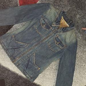 DKNY vintage sherpa jean jacket